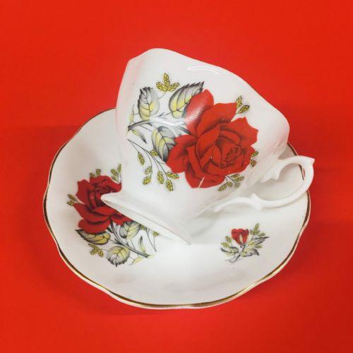Red Rose - Bone China Duo - Display